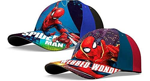 2 Stück Kinder Basecap Kappe Mütze Baseball Cap Marvel Spiderman Gr. 52-56 cm