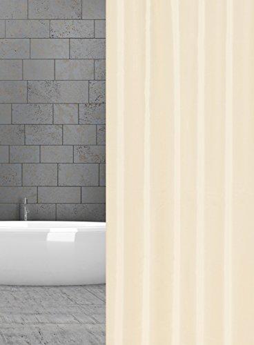 KS Handel 24 Textil DUSCHVORHANG Uni Champagner Ecru 240x200 cm 240 BREIT X 200 cm HOCH! Shower Curtain Champagner Ecru