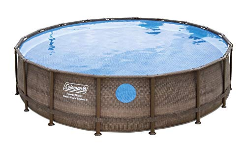 Coleman 18' x 48'' Power Steel Swim Vista Series II Swimming Pool Metal Frame