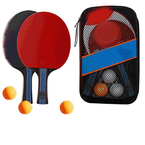 Find Discount SDAKVDNS Table Tennis Cover, Two Shots and Three Balls, Training Racket Double-Sided A...