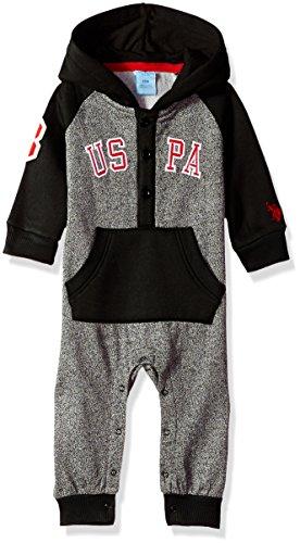 U.S. Polo Assn. Baby Boys Fleece Romper