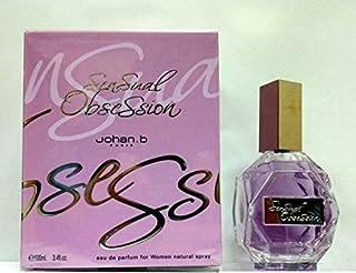 سنشول اوبيشون 100 مل من جوهان للنساء Johan B Sensual Obsession by Johan B for Women Eau de Parfum Spray 3.4 oz