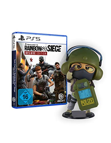 Tom Clancy's Rainbow Six Siege Deluxe Edition [PS5] + Ubisoft Six Collection - Blitz Figur (Rainbow Six Siege, Serie 4)