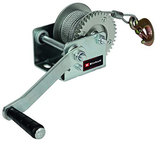 Einhell Handseilwinde TC-WI 500 (max. Tragkraft 500 kg, 10 Meter drallfreies Drahtseil, Rücklaufsperre, Softgrip inkl. Sicherheitslasthaken mit Sicherungsklappe)
