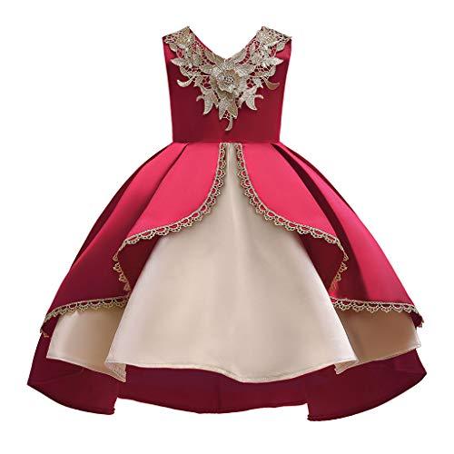 LuckyGirls Dress Princess Little Girl Elegant Carnival Dresses Ceremony Kids Girls Ball Gown Party Casual Sleeveless Dresses