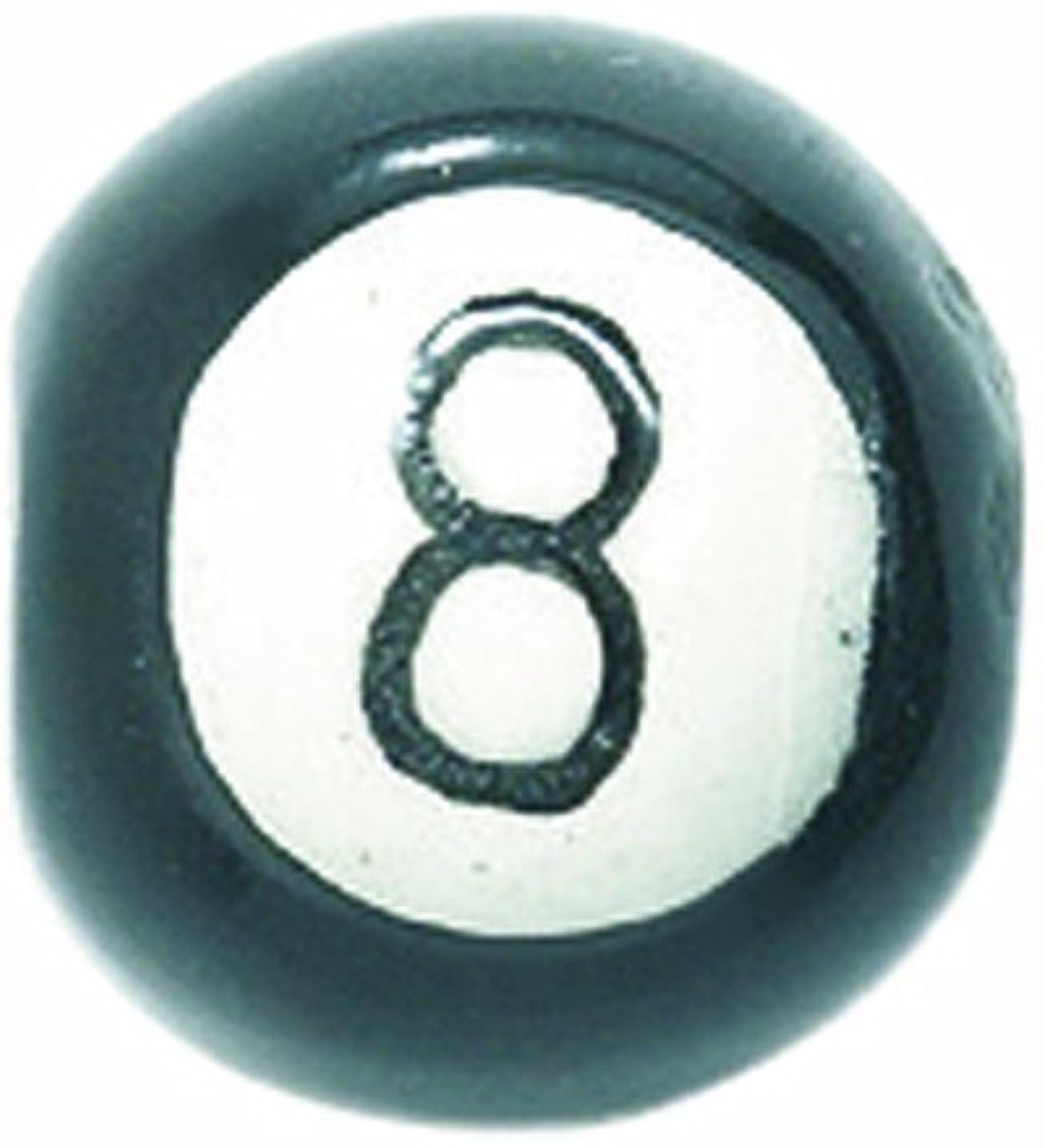 Shipwreck Beads 12mm Peruvian Hand Crafted Ceramic 8 Ball Beads, Black, 8 per Pack