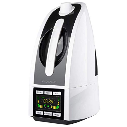 Medisana AH 665 Ultrasónica 4.5L 30W Negro, Color blanco - Humidificador (30 W, 240 mm, 170 mm, 360 mm, 1,3 kg, Negro, Color blanco)