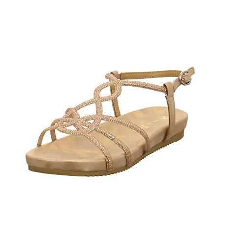 Alma en Pena Damen V20832 Rosefarbene Synthetik Sandalette Größe 38 EU Pink (Pink)