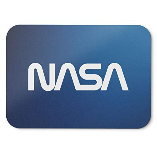 BLAK TEE Official Classic Nasa Worm Logo Mouse Pad 18 x 22 cm in 3 Colours Blu