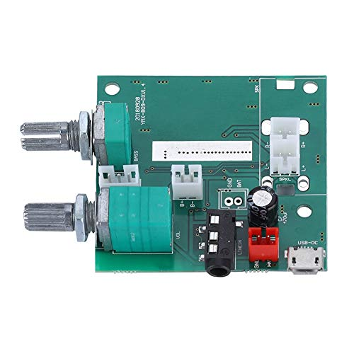 Goshyda 20W Digital Power Amplifier Board,Bluetooth 5.0 5V 2.1 Dual Channel Stereo AMP Board Module with Strict Requirements,for MP3, MP4,Phone,PC