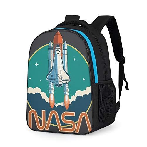 RNGIAN mochila deportiva NASA Rocket Basic para hombres Gris gris talla única