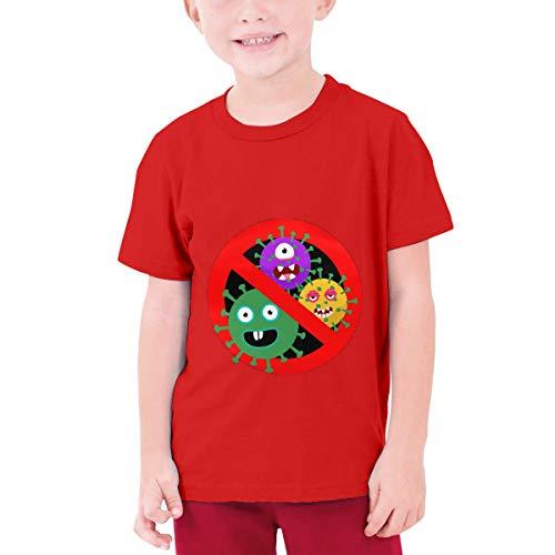 Stop Cor-Onavir-Us Youth Boys Teens Custom T-Shirt, Fashion Shirt for Boys and Girls Red