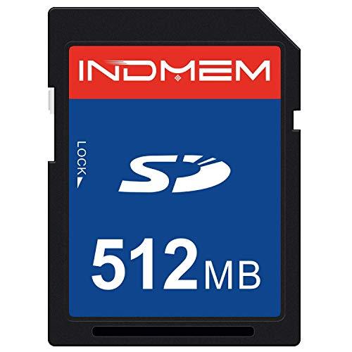 INDMEM SD-Karte 512MB SLC Secure Digital Flash-Speicherkarte Kamerakarte der Klasse 4
