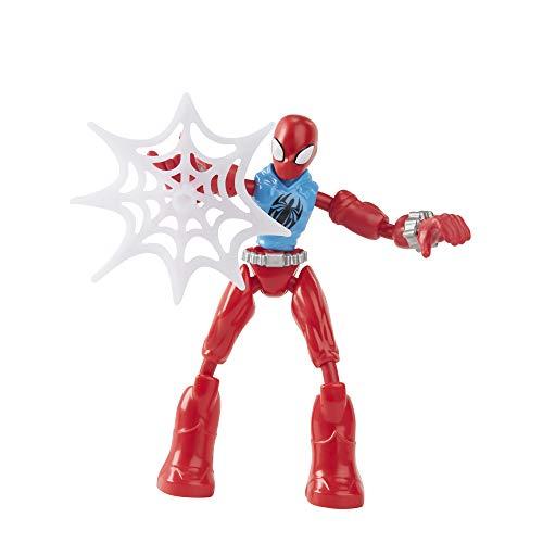 Marvel Spider-Man Bend und Flex Marvel's Scarlet Spider Actionfigur Spielzeug, 15,2 cm Flexible Figur, inklusive Web-Zubehör, für Kinder ab 4 Jahren