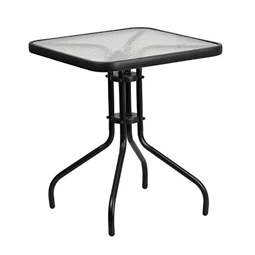 Flash Furniture 23.5'' Square Tempered Glass Metal Table  $38 at Amazon