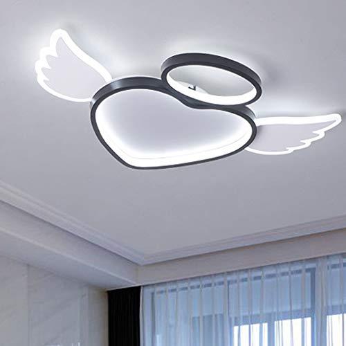 Luces de lámpara de techo de corazón LED Luces de techo para niños de guardería Luces de techo de guardería Pantalla de acrílico regulable Lámpara de techo para niños