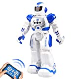 Brekya Best Gift for Kids ,Intelligent Programmable RC Robot with Infrared Controller Toys,Dancing,Singing, Moonwalking and LED Eyes,Gesture Sensing Robot Kit for Childrens Entertainment (Blue)