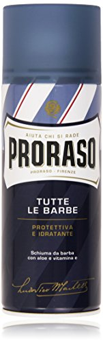 Proraso - Schiuma da Barba con Aloe e Vitamina E, Protettiva e Idratante - 400 ml