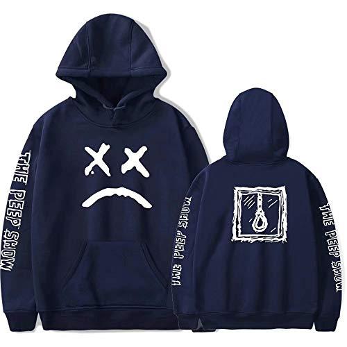 Lil Peep Unisex Fashion Print Hoodie Sweatshirt mit rundem Kragen und Kapuze Hip Hop Rapper Pullover für Männer & Frauen