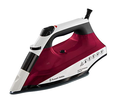 Russell Hobbs 22520 Auto Steam Pro Non-Stick Iron, 2400 W - White and Red by Russell Hobbs
