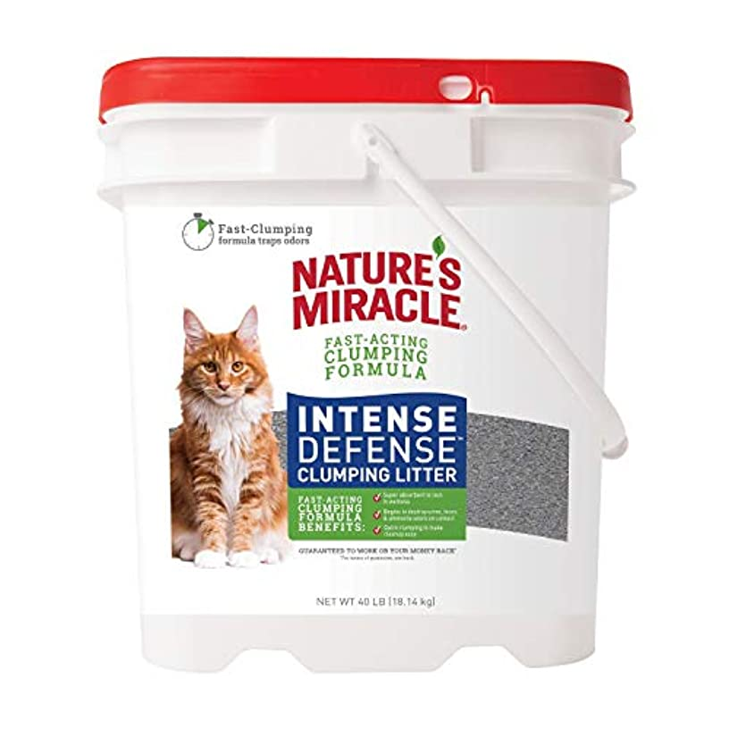 Nature's Miracle Intense Defense Clumping Litter, Cat Litter with Fast Acting Super Absorbing Formula