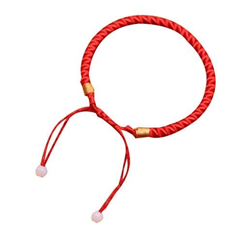 Conijiwadi Hombres Mujeres Pulsera de Buena Suerte Trenzado Suerte Brazalete Rojo Cadena de Cuerda Cable de Regalo de la joyería Pulsera