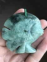 翡翠 氷花青種 熱帯魚 置物 文鎮 根付 A貨 未処理