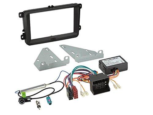 Kit Installation autoradio 2DIN CAN Bus/ Adaptateur antenne VW/ Seat/ Skoda ap03 noir