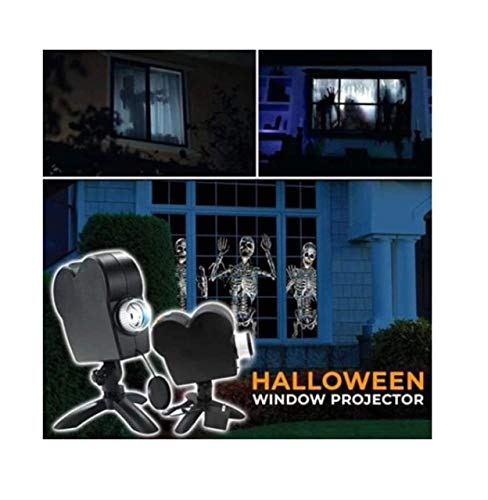 TIANXIN Halloween Holographic Projection, Halloween Projector Lights with a Tripod, Christmas LED Projector Lights, 12 Patterns Festival Outdoor Decor for Holiday Party Decoration Wall Motion