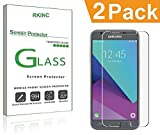 RKINC Screen Protector for Samsung Galaxy J3 Luna Pro, Tempered Glass Screen Protector[0.3mm, 2.5D][Bubble-Free][9H Hardness][Easy Installation][HD Clear] forSamsung Galaxy J3 Luna Pro(2 Pack)