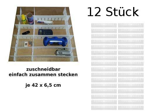 Westerwald-Shop Schubladenteiler Set Fachteiler Schubladeneinteiler Schubladen Einteiler (12)