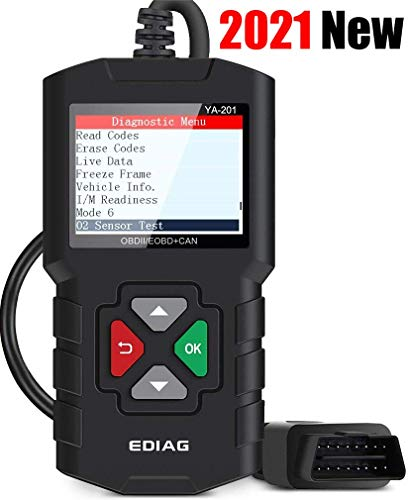 EDIAG YA201 Code Reader Car Diagnostic Tool Full Obd2 Scanner Check Engine Light Vehicle Code Reader for O2 Sensor EVAP Systems Upgraded Graphing Battery State and Live Data for OBDII Protocol Cars