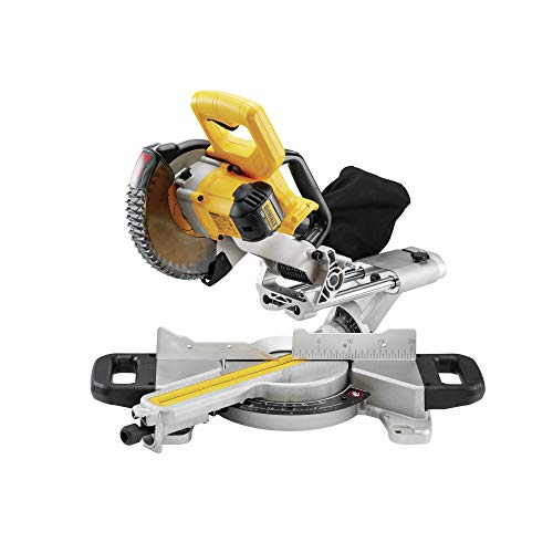 DEWALT DCS365N-XJ XR 184 mm Mitre Saw with XPS-Bare Unit, 590 W, 18 V, Yellow