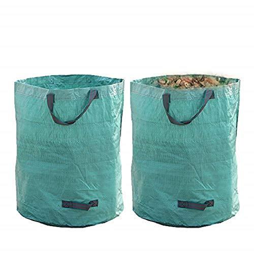 AllRight 2X Gartensack 272 Liter Gartenabfallsäcke Laubsäcke Polypropylen-Gewebe (PP) Selbststehende und Faltbare Laubsäcke