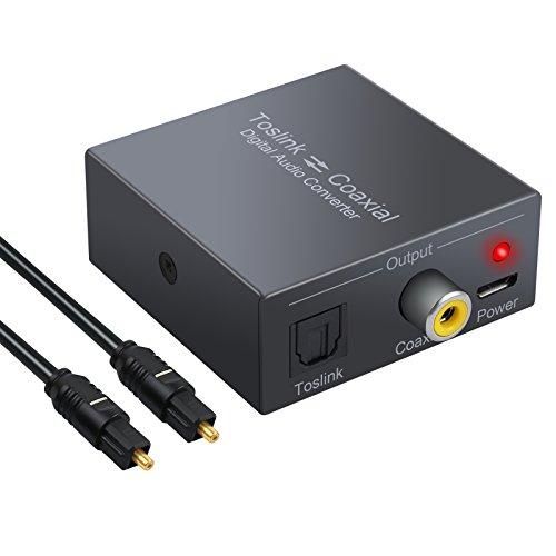 PROZOR DAC Digital Koaxial zu Optischem SPDIF Toslink Konverter Unterstützung DTS / Dolby-AC3 192 KHz Bidirektionaler Digitaler Audio Splitter