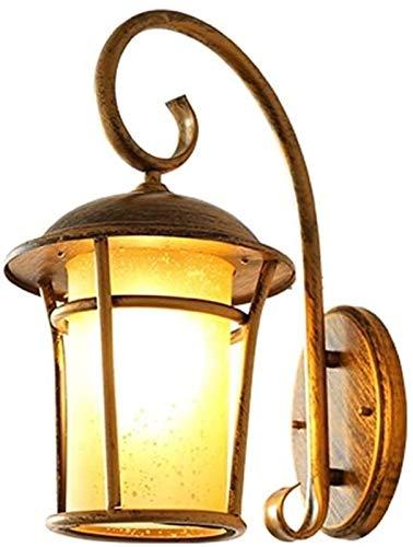 LYDIANZI Lampe de Mur extérieur Creative Aluminium Garden Villa Tradition Café Restaurant Bar Couloir Fer Art Lanterne Murale Balcon Applique européenne Mur étanche (Color : Bronze)