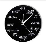 guyuell Números De Ingeniería Matemáticas Reloj De Pared Ecuación Matemática Reloj Decorativo Pop Quiz Arte De La Pared Ciencia Regalo para Matemáticos Frikis Y Maestros