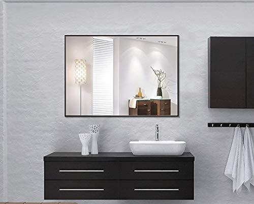 LEVE Bathroom Mirror Black Frame Mirror Modern Wall Mounted Bedroom Mirrors Hanging -