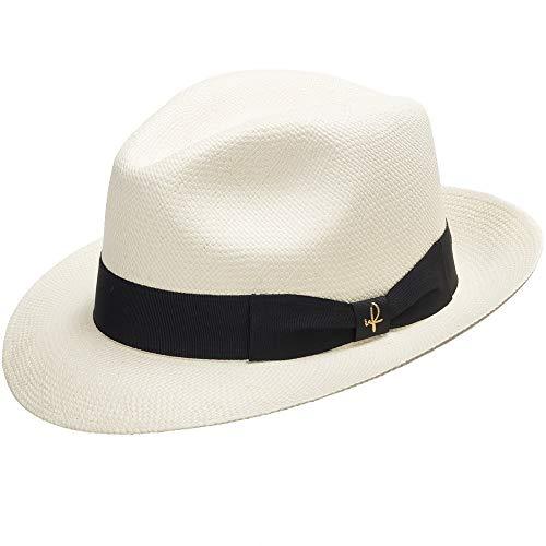 Ultrafino Genuine Havana Retro Panama Straw Hat Classic Lightweight 7 5/8