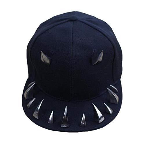 Cap Horn Snapback Caps Hombres Punk Gorras de béisbol Mujeres Punk Horns Cap Hip Hop Sombreros de béisbol para Hombres y Mujeres Ajustable 1