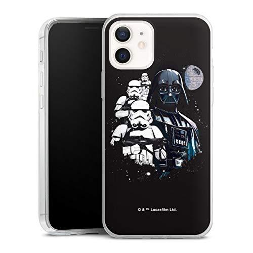 DeinDesign Slim Hülle extra dünn kompatibel mit Apple iPhone 12 Silikon Handyhülle transparent Hülle Star Wars Weltall Film