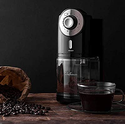 Top Rated Bellemain Burr Coffee Grinder with 17 Settings for Drip, Percolator, French Press and Turkish Coffee Makers, Silver/Black from Bellemain