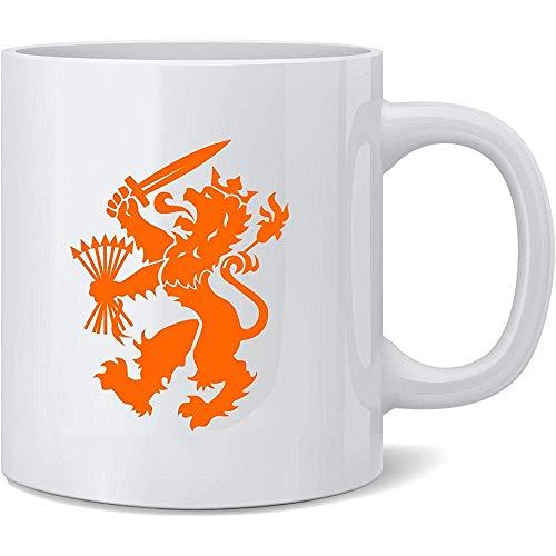 Beker Holland Voetbal Nederlandse Leeuw Nationaal Team Crest Nieuwigheid Koffie Mok Keramische Thee Beker Nieuwigheid Leuke Gift 330Ml
