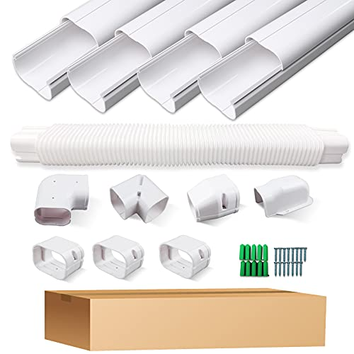 ONELIGHT Decorative PVC Line Cover Kit for Mini Split Air Conditioner and Heat Pumps Systems,Air Conditioner Pipe Insulation Outdoor