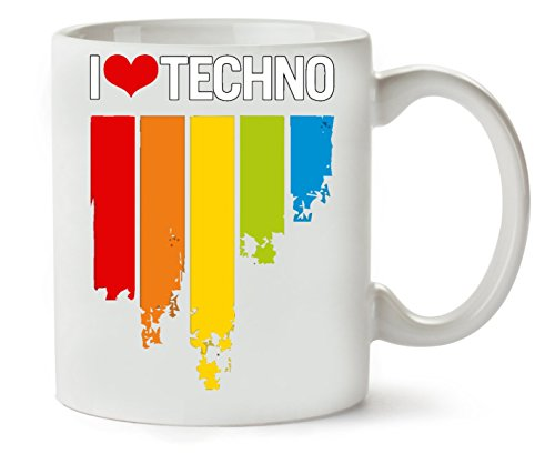 1GD I Techno Music Series Colourful Minimal Nice to klassieke theekopje koffiemok