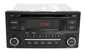 1 Factory Radio AM FM Radio Single Disc CD Player Compatible with 2015-2016 Nissan Sentra Versa Part 28185 9MC1A