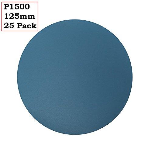"""125 mm sec et humide de Ponçage Disques Velcro 5/"""" Papier de verre Pad Film Grit 40-3000"""