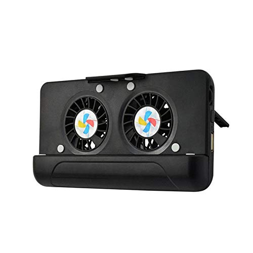 FAY Teléfono portátil, Mobile Controller Gamepad, USB Dual de refrigeración del Ventilador del radiador/Stand/energía móvil para teléfonos Inteligentes de 4,5 Pulgadas a 7 Pulgadas