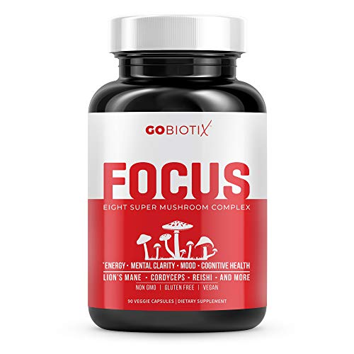 of fenugreek capsules dec 2021 theres one clear winner Focus 8 Mushroom Supplement Complex by GoBiotix - Lions Mane, Cordyceps, Reishi, Chaga, Maitake + More - Nootropic Brain Booster for Memory, Clarity, Energy, Immune System Support (90 Veggie Capsules)