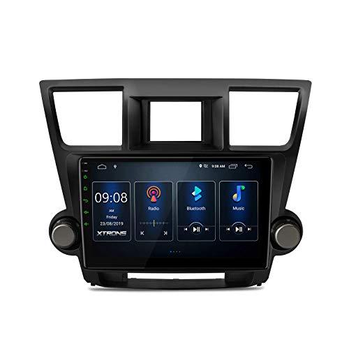 Eingebaute DSP Android 10.0 Autoradio 10,1-Zoll-IPS-Bildschirm Autoradio GPS-Navigation unterstützt CarAutoPlay Volle Cinch-Ausgabe Bluetooth 5.0 1080P DVR WiFi-Rückfahrkamera für Toyota Highlander